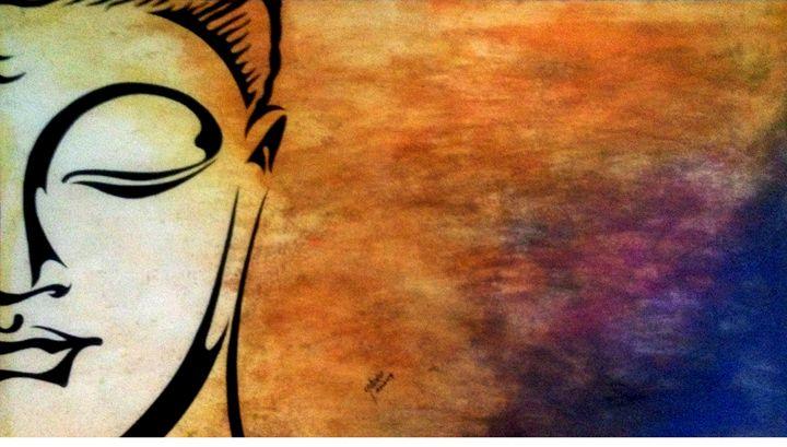 Buddha painting - Art & Crafts !