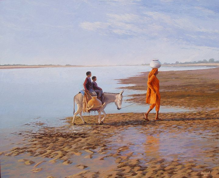Jhelum River , punjab, Pakistan - Shehzad Art Work