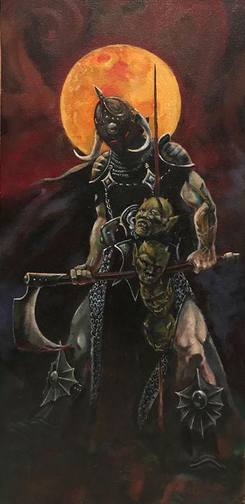 Death Dealer a tribute to F Frazetta - tom donovan artwork