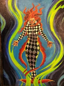harlequin mermaid