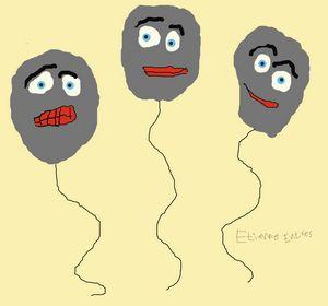 Gray smile balloons