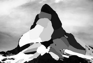 Low polygon Ice mountain