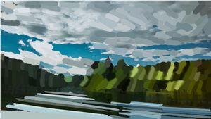 Dam Landscape Artwork