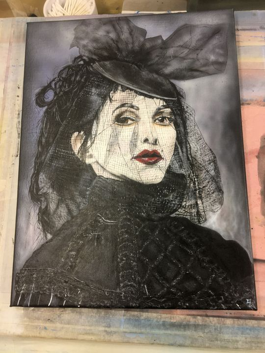 lady in black - paint pirate creations