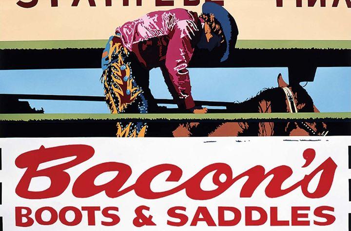 Bacon's Boots & Saddles - Bill Schenck serigraph