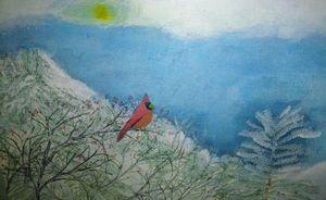 Winter cardinal - Gene Roberts