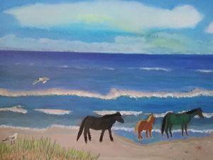 A stroll on the beach. - Gene Roberts