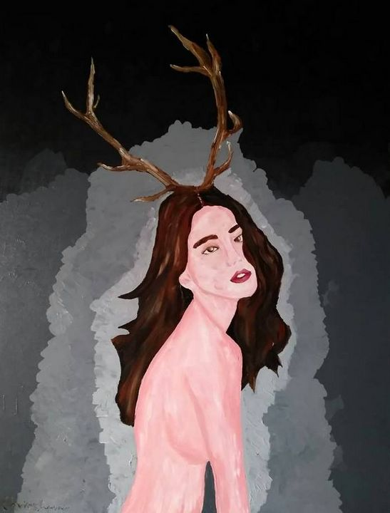Woman with antlers - Christos Anastasopoulos