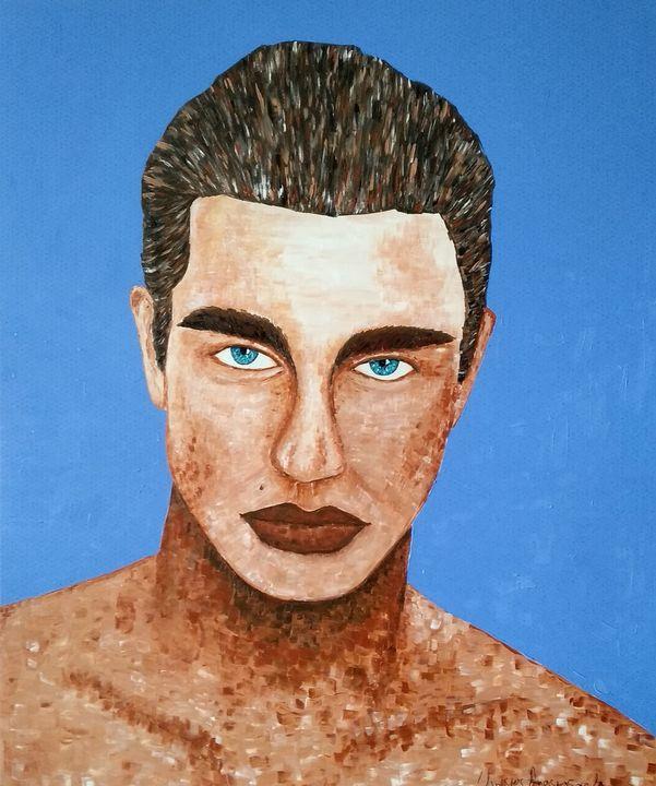 Man in blue - Christos Anastasopoulos