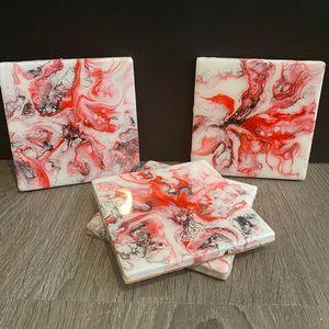 Poppy Fields Coaster Set