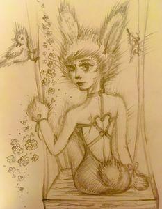 Bunny girl & swing