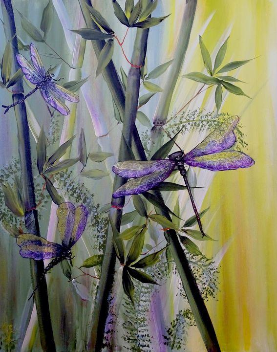 Dragonflies magic - Evelyne Joy of Art