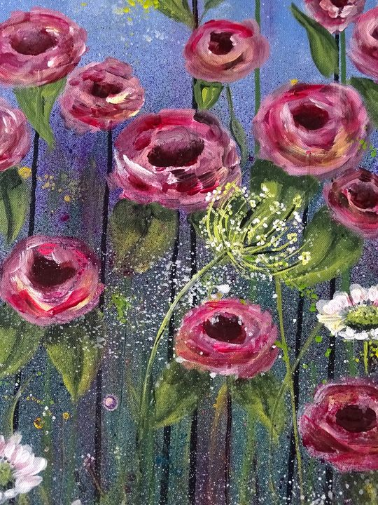 Flowers are standing tall - Evelyne Joy of Art
