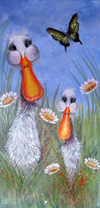Ducks in & out - Evelyne Joy of Art