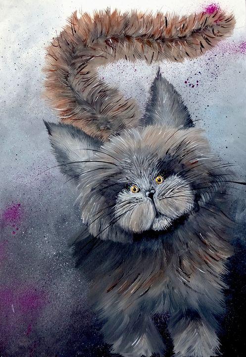 Bunch of fluff cat - Evelyne Joy of Art