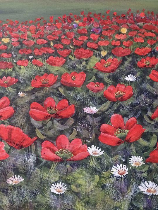 The poppy field - Evelyne Joy of Art