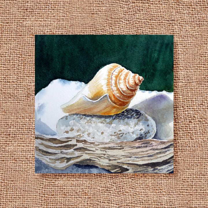 Seashells Art Collage I - Artszarts