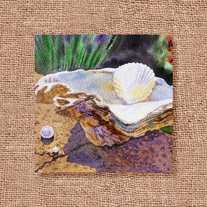 Seashells Art Collage II - Artszarts