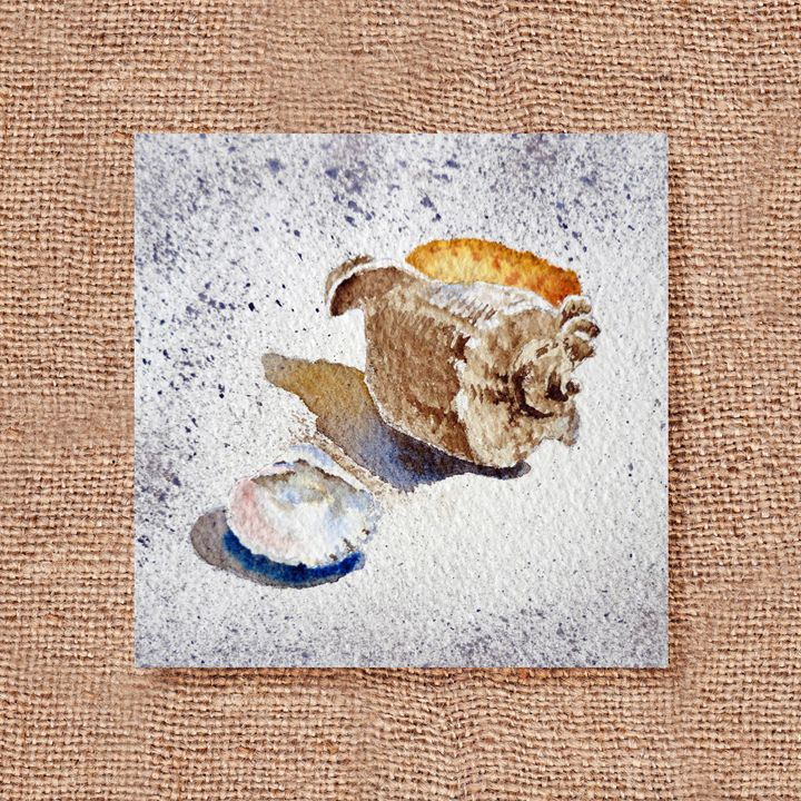 Seashells Art Collage IV - Artszarts