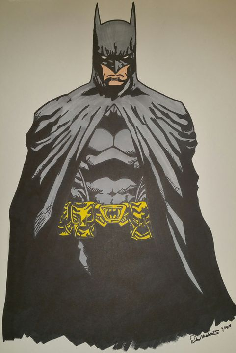 Batman 24x 18 poster drawing - MeddersMade