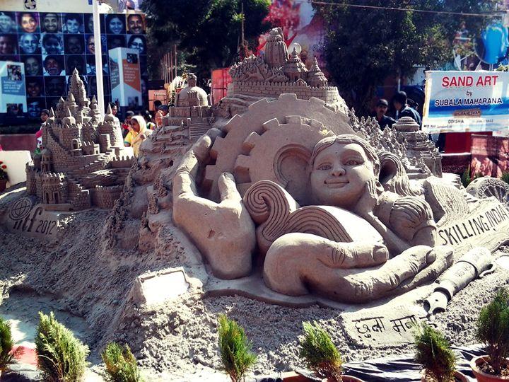 Sand Art - Weird Cookie