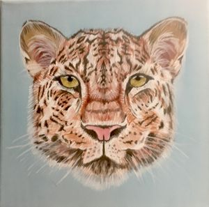 10''×10'' LEOPARD Acrylic Painting
