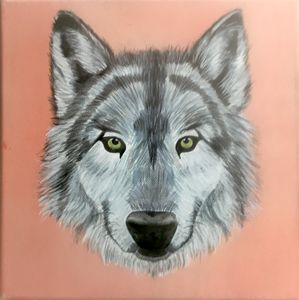 10''×10'' WOLF Acrylic Painting