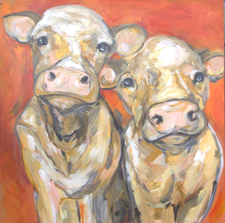Twins of the Orange Fields - Art by Christina Davis