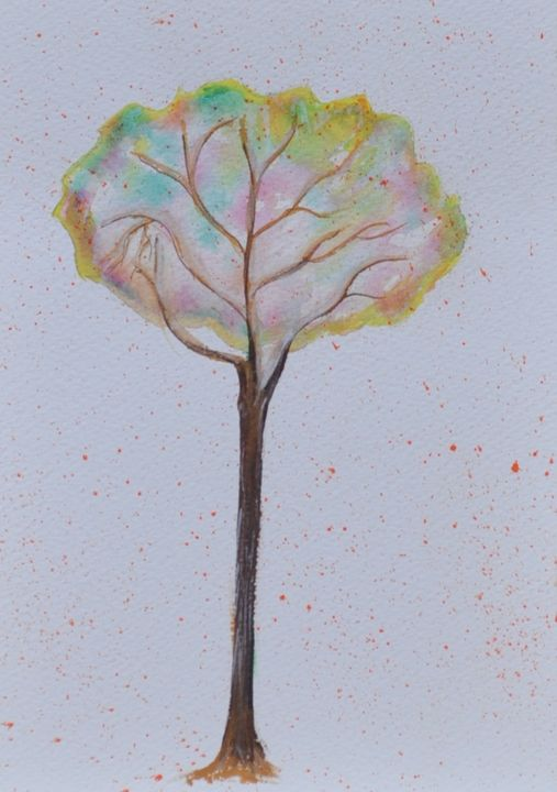 """Thinking Tree"" - artforsalercbenson.com"