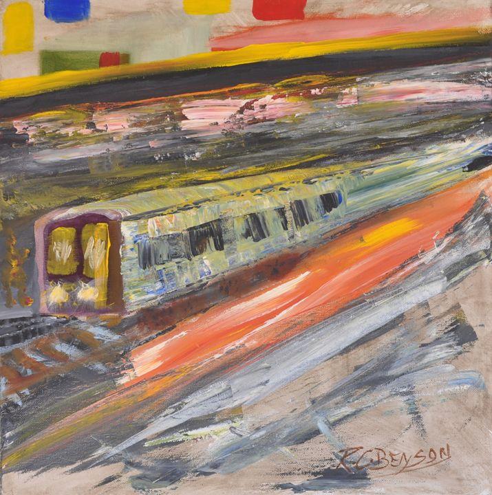 """Train Ride"" - artforsalercbenson.com"