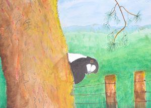 """Cheeky Magpie"" - artforsalercbenson.com"
