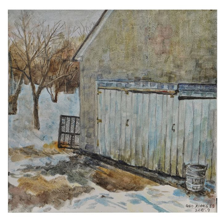 The first snow - GXL's paintings