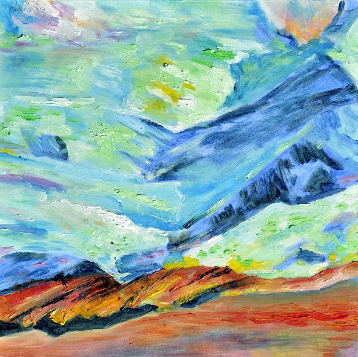 mountains10 - GXL's paintings