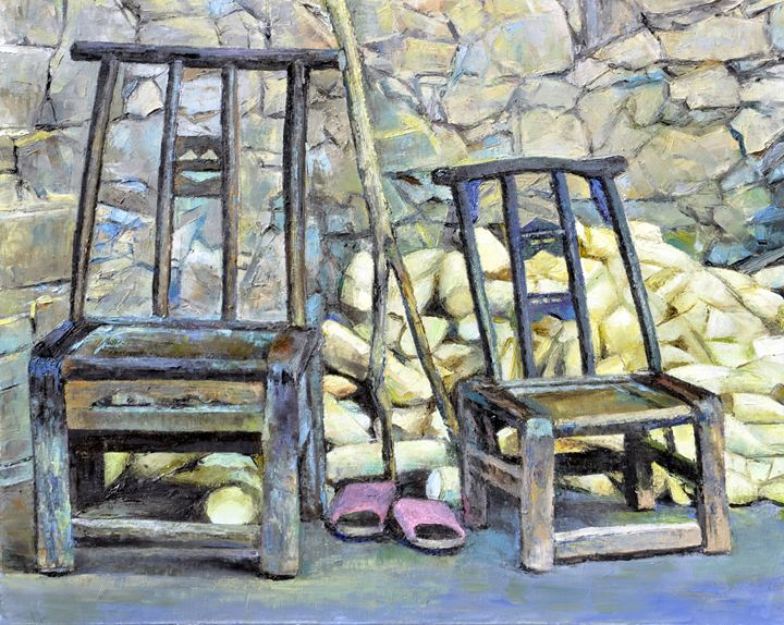 chair and radish - GXL's paintings