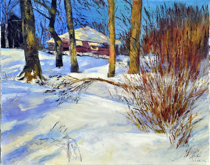 winter snow3 - GXL's paintings
