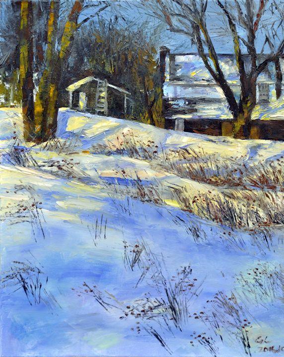 winter snow2 - GXL's paintings