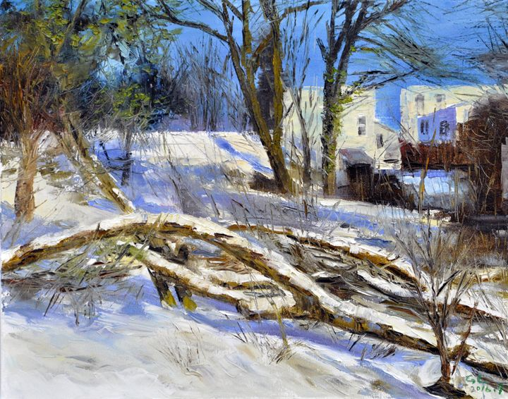 winter snow1 - GXL's paintings