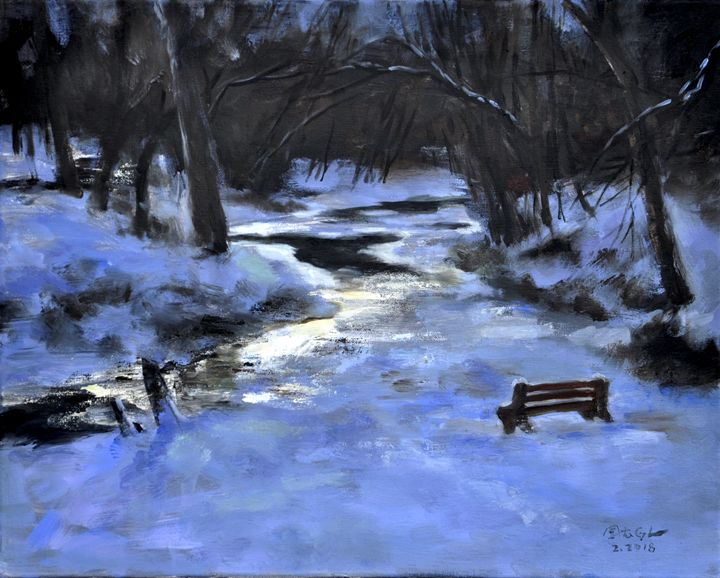 Frozen river - GXL's paintings