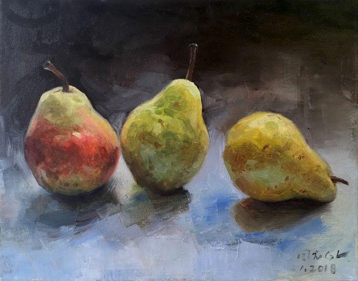 Three pears - GXL's paintings
