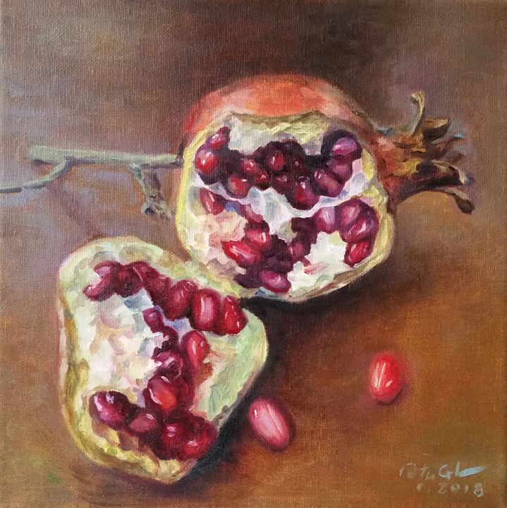 pomegranate - GXL's paintings