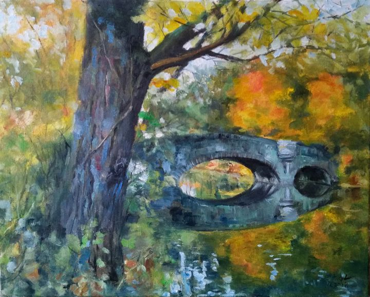 Lake autumn - GXL's paintings