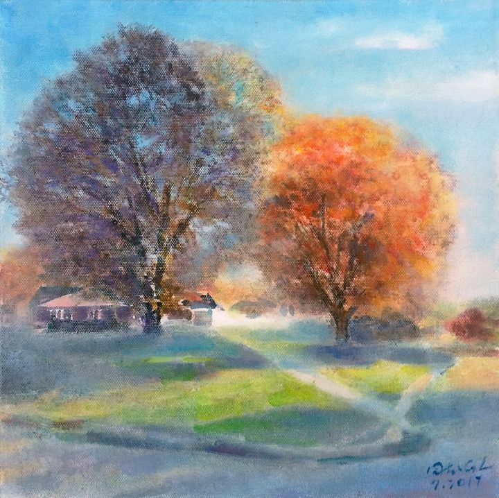 Two trees - GXL's paintings