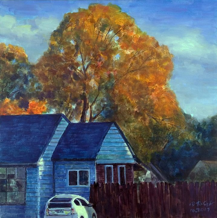 Blue house - GXL's paintings