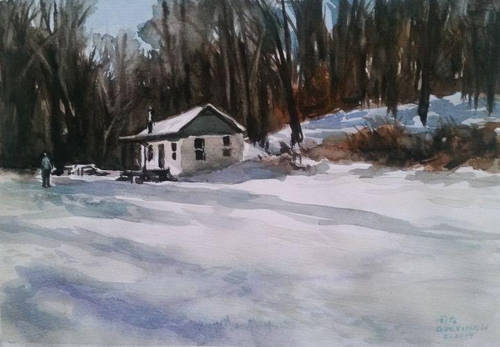 watercolor(snow) - GXL's paintings