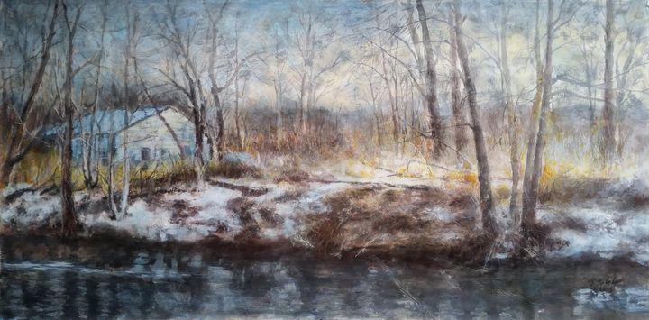 Spring snow - GXL's paintings