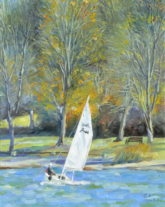 sailboat - GXL's paintings