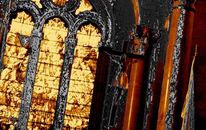 CHROME CRUCIFIX - GILES ARTS