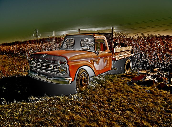 OLD SCHOOL CHOME TRUCK - GILES ARTS