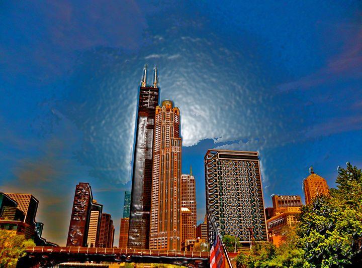 LIQUID CHICAGO SKYLINE - GILES ARTS
