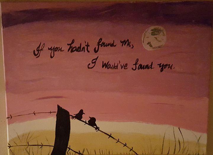 Love in a meadow - Calming canvas art work